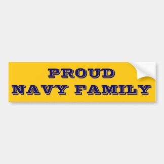Familia orgullosa de la marina de guerra de la peg pegatina para auto