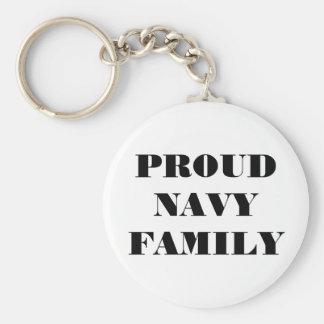 Familia orgullosa de la marina de guerra del llavero personalizado