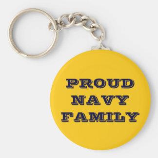 Familia orgullosa de la marina de guerra del llaveros