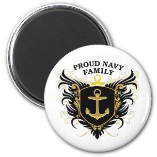 Familia orgullosa de la marina de guerra imán