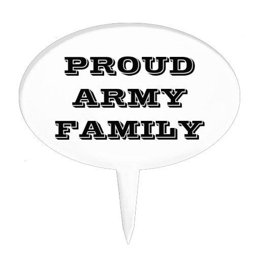 Familia orgullosa del ejército del primero de la t decoraciones de tartas