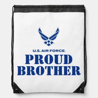 Familia orgullosa - pequeños logotipo y nombre de mochilas