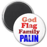 Familia Palin de la bandera de dios Imán De Frigorífico