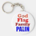 Familia Palin de la bandera de dios Llaveros