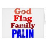 Familia Palin de la bandera de dios Tarjeta