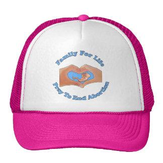 Familia para la vida gorras de camionero