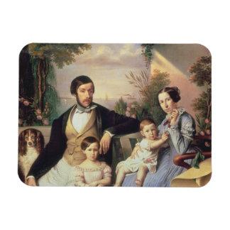 Familia parisiense imanes de vinilo