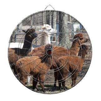 Familia peruana de la alpaca - pacos del Vicugna Tabla Dardos