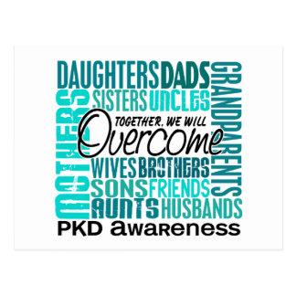 Familia PKD cuadrado Postal