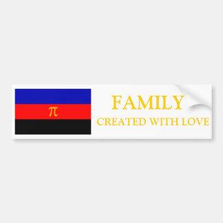 Familia polivinílica del orgullo hecha con el para pegatina de parachoque