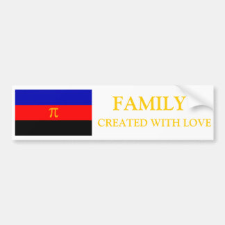 Familia polivinílica del orgullo hecha con el para pegatina para auto