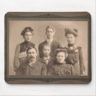 Familia Portrat del vintage Alfombrillas De Ratón
