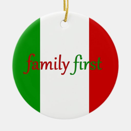 FAMILIA PRIMERO - Italia/México/familia Adorno Navideño Redondo De Cerámica
