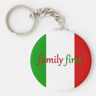 FAMILIA PRIMERO - Italia/México/familia Llavero Redondo Tipo Pin