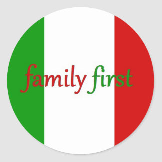 FAMILIA PRIMERO - Italia/México/familia Pegatina Redonda