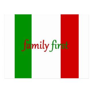 FAMILIA PRIMERO - Italia/México/familia Tarjetas Postales