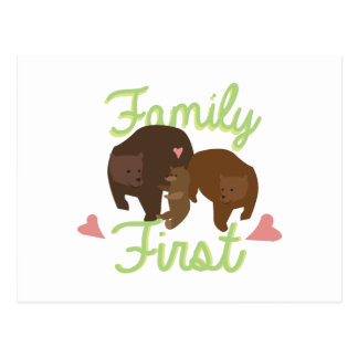 Familia primero postales