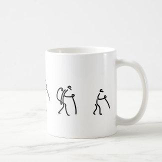 familia que camina la taza