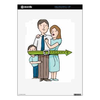 Familia que tensa la correa iPad 2 calcomanías