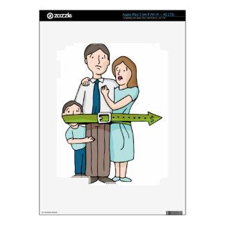 Familia que tensa la correa pegatinas skins para iPad 3