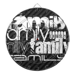 Familia; Rayas negras y gris oscuro