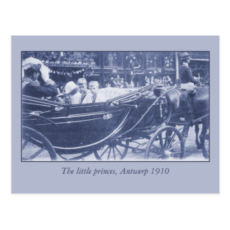 Familia real belga del vintage en Amberes 1910 Postales