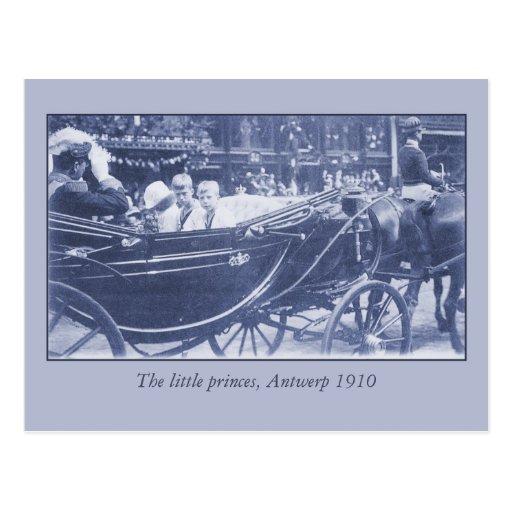 Familia real belga del vintage en Amberes, 1910 Postales
