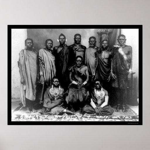 Familia real en Kenia 1909 Póster