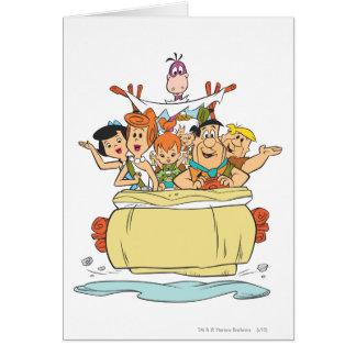 Familia Roadtrip de los Flintstones Tarjeta De Felicitación