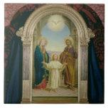 Familia santa, 1898 (tempera en el panel) azulejo ceramica