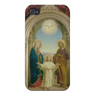 Familia santa, 1898 (tempera en el panel) iPhone 4 fundas
