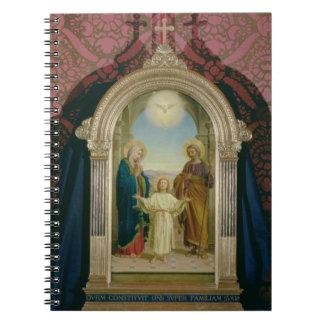 Familia santa, 1898 (tempera en el panel) libro de apuntes