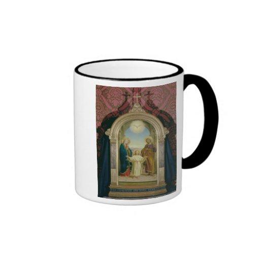 Familia santa, 1898 (tempera en el panel) taza de café