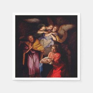 Familia santa con ángeles por Coypel Servilletas Desechables