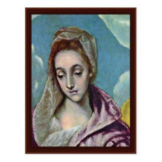 Familia santa con el detalle de St Anne por el EL  Tarjetas Postales