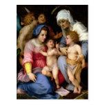 Familia santa con los ángeles, c.1515-16 (aceite e postal