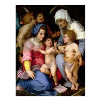Familia santa con los ángeles, c.1515-16 (aceite tarjetas postales