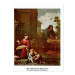 Familia santa con St. John infantil Tarjeta Postal