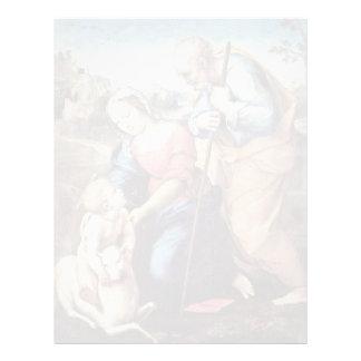 Familia santa con un cordero de Raffael (la mejor Membrete Personalizado