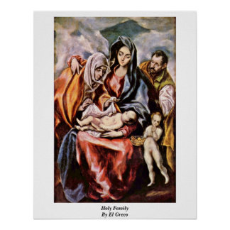 Familia santa de El Greco Póster