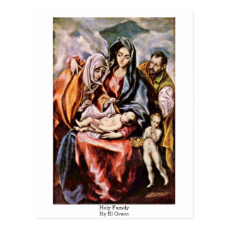 Familia santa de El Greco Tarjeta Postal