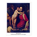 Familia santa de Miguel Ángel Merisi DA Caravaggio Postal