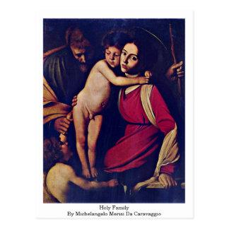 Familia santa de Miguel Ángel Merisi DA Caravaggio Tarjeta Postal