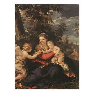 Familia santa de Pedro Cortona- que descansa sobre Postales