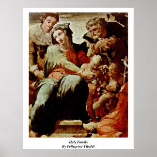 Familia santa de Pellegrino Tibaldi Poster