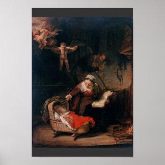 Familia santa de Rembrandt Harmensz Van Rijn Impresiones