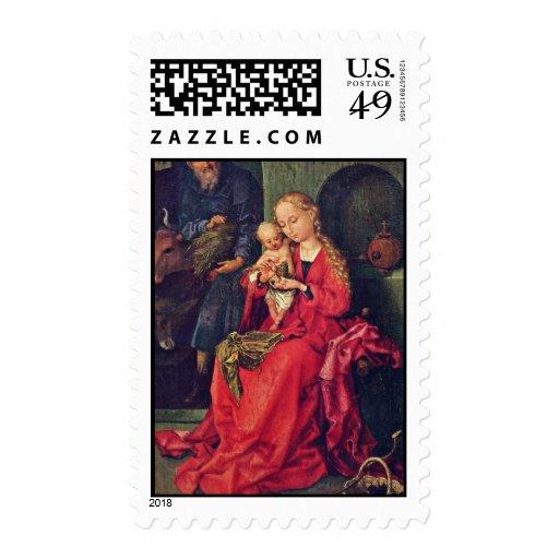 Familia santa de Schongauer Martin (la mejor calid Sello