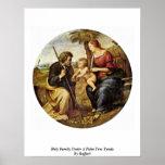 Familia santa debajo de una palmera Tondo de Raffa Posters