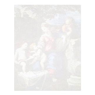 Familia santa debajo del roble con Juan el Bapti Plantillas De Membrete