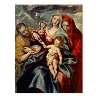Familia santa del EL Greco- Postal